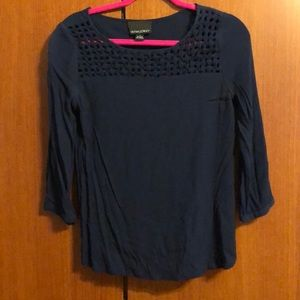 Cynthia Rowley navy blue blouse